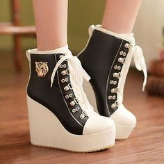 Sexy Women's Block Heels Ankle Boots Goth Punk Zip Buckle Combat Slouch Boots
