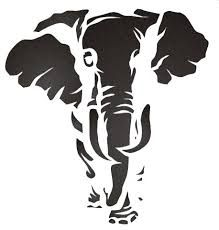 Image result for elephant stencil