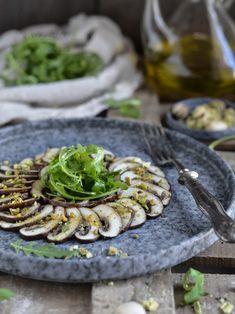 Carpaccio Recipe, Veggie Appetizers, Healthy Food Alternatives, Food Plating, No Cook Meals, Vegan Vegetarian, Cooking Time, Catering, Vegan Recipes