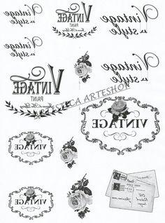 Billedresultat for imagen transfer vintage Printable Labels, Printable Art, Free Printables, French Typography, Foto Transfer, Decoupage Vintage, Graphics Fairy, Vintage Labels, Vintage Prints