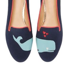 Whale Canvas Smoking Slipper   Ballets & Flats   Shoes   Categories   C. Wonder