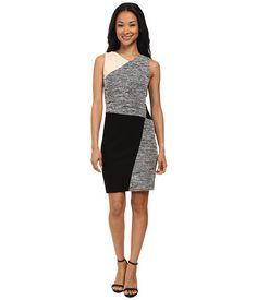DKNYC Slub Texture Fitted Dress