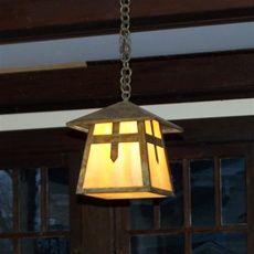 "Stamford Lantern 7"" Wide Chain Hung Exterior Pendant Light"