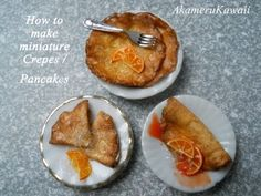 ▶ Miniature crepes Tutorial - 1:12 scale polymer clay dollhouse food - YouTube