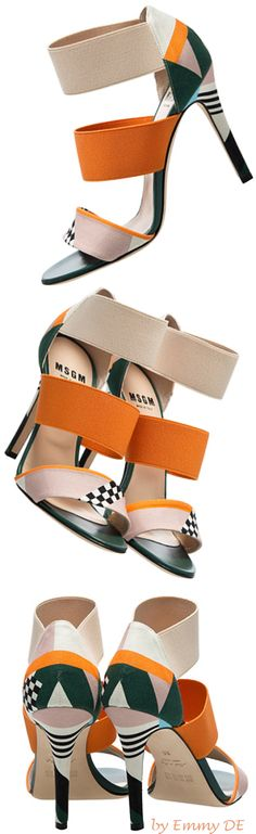 MSGM Ceramics Printed Sandals 2015 | my sexy shoes2