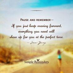 Keep moving forwarx