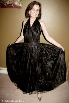#over40 evening gown in black lace   high Latitude Style   http://www.highlatitudestyle.com