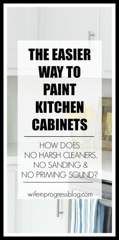 Did you know that you can paint your kitchen cabinets and skip the harsh surfactants, deglossers/sanding and even priming? And STILL have your latext paint adhere perfectly? You have to read this post!
