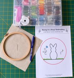 Tutorial: 'Bunny in a Hoop' Embroidery ~ by Down Grapevine Lane