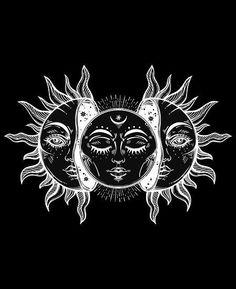O sol Witchy Wallpaper, Hippie Wallpaper, Arte Grunge, Hippie Art, Wedding Art, Moon Art, Sun Moon, Aesthetic Art, Art Drawings