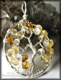 Stunning Citrine Tree of Life Pendant in Sterling Silver $75