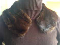 Vintage 50s real mink fur collar by Myfamilytreasure on Etsy