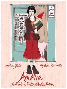 """""""Le fabuleux destin d'Amélie Poulain"""" fan art, par Courtney Wirthit."""