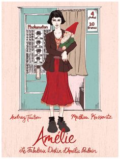 """Le fabuleux destin d'Amélie Poulain"" fan art, par Courtney Wirthit."