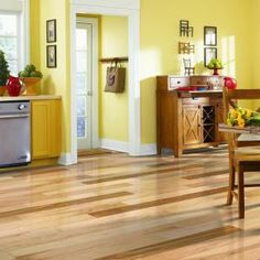 Mohawk Pristine Hickory Natural 3/8 in. Thick x 5-1/4 in. Width x Random Length Engineered Wood Flooring (22.5 sq. ft./case)-HCE55-10 at The Home Depot