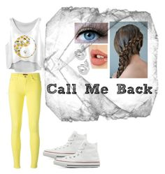 """""""Call Me Back"""" by tashaniall ❤ liked on Polyvore featuring 7 For All Mankind, Converse, Charlotte Tilbury, Rock 'N Rose, women's clothing, women's fashion, women, female, woman and misses"""