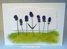 Easy to make lavender card