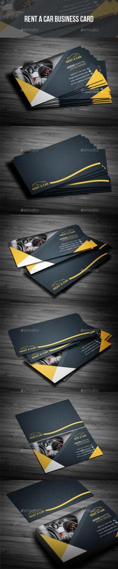 Rent A Car Business Card Design Template - Industry Specific Business Cards Design Template PSD. Download here: https://graphicriver.net/item/rent-a-car-business-card/19361594?ref=yinkira