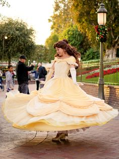 Belle (Twirling at Disney World) Walt Disney, Disney Love, Disney Magic, Disney Parks, Disney Pixar, Disney Belle, Disney Nerd, Disney Fairies, Disneyland Face Characters