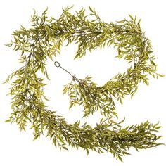 6' Green Smilax Leaf Garland