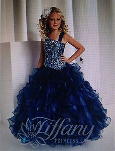 girls ball gowns size 14 | Girls Tiffany Princess Ball Gown Pageant Dress Size 14 in Peacock ...