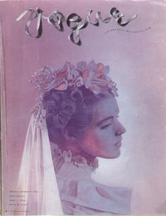 April 1936 - Cecil Beaton's first photographic cover for Vogue by bohemea, via Flickr