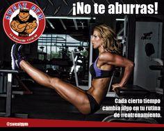 Consejo Sweat Gym: cambia tu rutina de entrenamiento cada cierto tiempo ¡No te aburras! ¡Sorprende a tus músculos! #Salud #Nutrición #Cardio #Musculacion #Culturismo #Fitness #Gym #ComeSano #SweatGym #SoySweatGym #TerritorioSweatGym #MrSweat #SweatGymxVenezuela #ejercicio