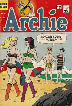 Archie No. 157 - Archie Series Comic Book c. August 1965 Archie No. 157 - Archie Series Comic Book c. August 1965 by undoneclothing, via… Comics Vintage, Vintage Comic Books, Old Comics, Archie Comics Riverdale, Archie Comic Books, Comic Books Art, Comic Art, Comic Book Grading, Archie Betty And Veronica