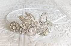 Vintage 1920s Crystal Jewelry Collection Bridal Headband  by KaticesBowtique, $199.99