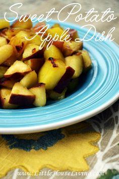 Sweet Potato Apple Recipe. Perfect simple meal or side dish idea for fall!