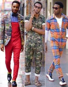 How to rock a jumpsuit, overalls or romper in men's streetwear Mens Fashion Online, Indian Men Fashion, Big Men Fashion, Look Fashion, Fashion Edgy, Rock Style Men, Men Style Tips, Romper Men, Trendy Outfits