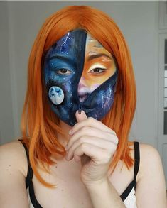 Galaxy Makeup, Makeup Tips, Halloween Face Makeup, Painting, Painting Art, Make Up Tips, Paintings, Painted Canvas, Makeup Tricks