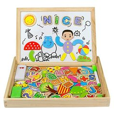 From 14.97 Wooden Double Sided Magnetic Drawing Board Jigsaw Puzzles 100 Pieces Educational Toy For Kids Over 3 Years Old