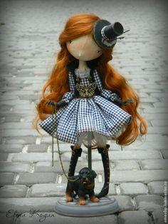 Лара - черно-белый,елена коган,собака,Ротвеллер,куклы елена коган,лара Wool Dolls, Knitted Dolls, Fabric Dolls, Paper Dolls, Pretty Dolls, Cute Dolls, Bjd, Black Lace Choker, Cute Teddy Bears