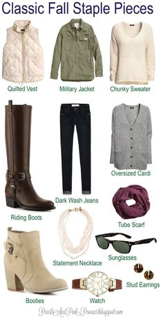 14277183aa3 great fall outfits for college ! No military jacket though. Classic Fall  Fashion Staple Pieces--my basic fall uniform