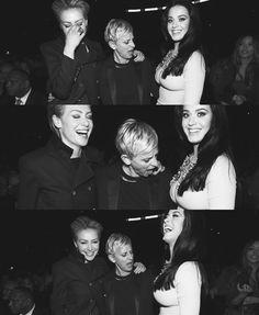 Ellen Degeneres' reaction to Katy Perry's dress at the Grammys. lol