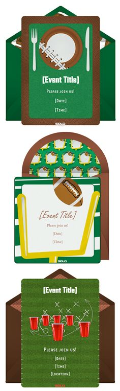 Free football invitations for tailgating parties