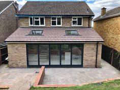 Single Storey - Kitchen Extension in Bromley - SLR Developments Kitchen Diner Extension, Bungalow Extensions, House, Open Plan Kitchen Dining, Open Plan Kitchen Dining Living, Flat Roof Extension, Small House Exteriors, Kitchen Extension