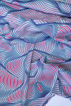Hansje van Halem / Printed Fabric #geometric #contemporary...