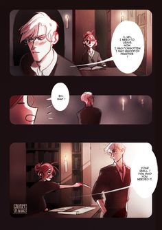 Different, a Scorpius / Rose comic page: III / V