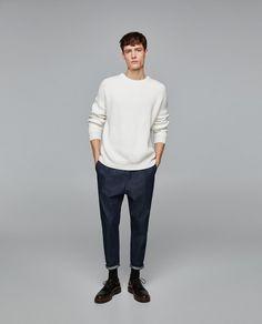 PREMIUM DENIM JEANS WITH FRONT DARTS from Zara Business Dress, Street Style Trends, Men Street, Men Looks, Trending Outfits, Zara, Normcore, Menswear, Style Inspiration