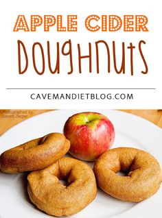 desserts will get your mouth watering, see what scrumptious desserts you can eat as part of your new Paleo lifestyle. You will be astounded and what you can eat and, how easy it is to create superb Paleo desserts. Paleo Apple Recipes, Super Healthy Recipes, Fall Recipes, Whole Food Recipes, Apple Desserts, Gf Recipes, Apple Cider Doughnut Recipe, Paleo Donut, Paleo Dessert