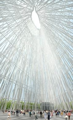 this is really beautiful - a shower of light -Taiwan Tower First Prize Winning Proposal / Sou Fujimoto Architects
