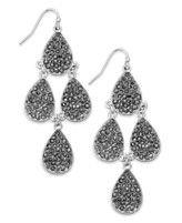 INC International Concepts Silver-Tone Crystal Pavé Chandelier Earrings