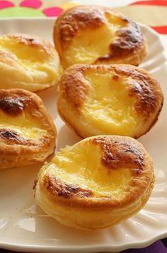 Mini Portugese tarts.