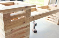 Summer DIY Challenge with The Home Depot // Building a Cedar Bench with Built In Planters