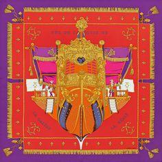 Silk twill scarf LA RÉALE  hermes  silk Turbante, Sciarpa Quadrata, Sciarpe  Di a8778cfedc1
