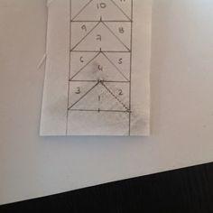 Coser y Coser Patchwork: Tutorial Vuelo de la Oca. Triangle, Patches, Quilts, Tattoos, Paper, Diy, Blog, Ideas, Home