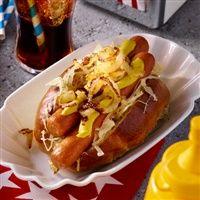 Hotdog met zuurkool