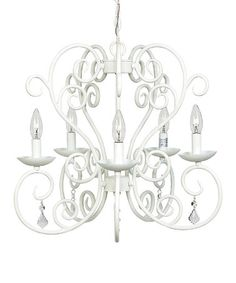 This White Carriage Chandelier by Jubilee Collection is perfect! #zulilyfinds